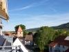 Blick vom Balkon in Richtung Kyffhäuser