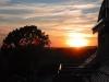 Sonnenuntergang auf dem Balkon der Fewo