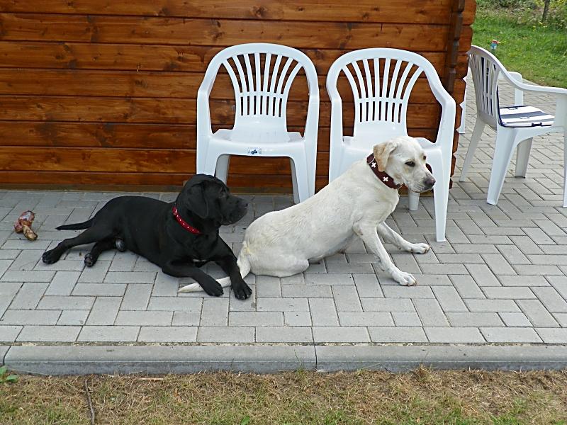Paula und Alfons vor der Hütte