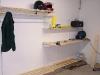 Biker Garderobe in der Garage