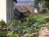 Gemüsegarten hinter dem Haus