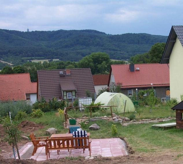 Terrasse mit Blick auf den Kyffhäuser
