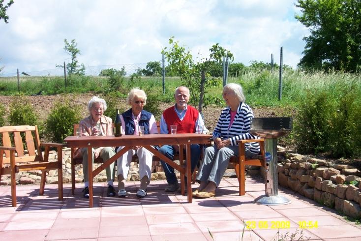 Terrasse mit Menschen