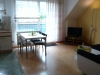 Das offene Wohnzimmer der Fewo Rothenburg